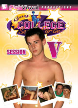 Gay College Sex Parties Session 5 porn dvd cover
