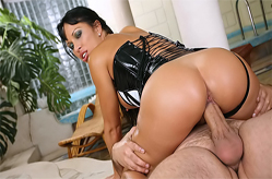 Cony Ferrara hot latex hardcore scene
