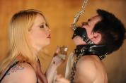 Mistress Irony goes hard on her disobedient man slut