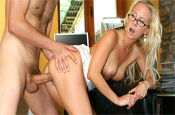 Naughty Secretary likes oral exams