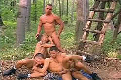 Lumberjocks play in the woods porn scene