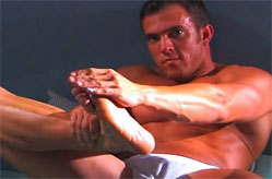 Luke is back for more foot massage