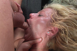 Blonde does some hardcore sucking