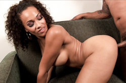 Sexy ebony enjoys cock ride
